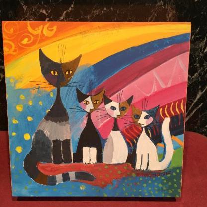 Bild Rosina Wachtmeister Katzenfamilie - Weyhe