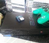 PS2 + 2 Controller + 20 Spiele und 1 Memorycard - Bremen