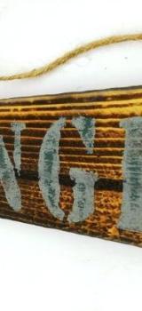 Holzschild,Lounge,Wandeko,Geschenke,Wandschild,Büroschild,Wanddeko,Schriften,Wohnzimmer,Badezimmer - Stuhr