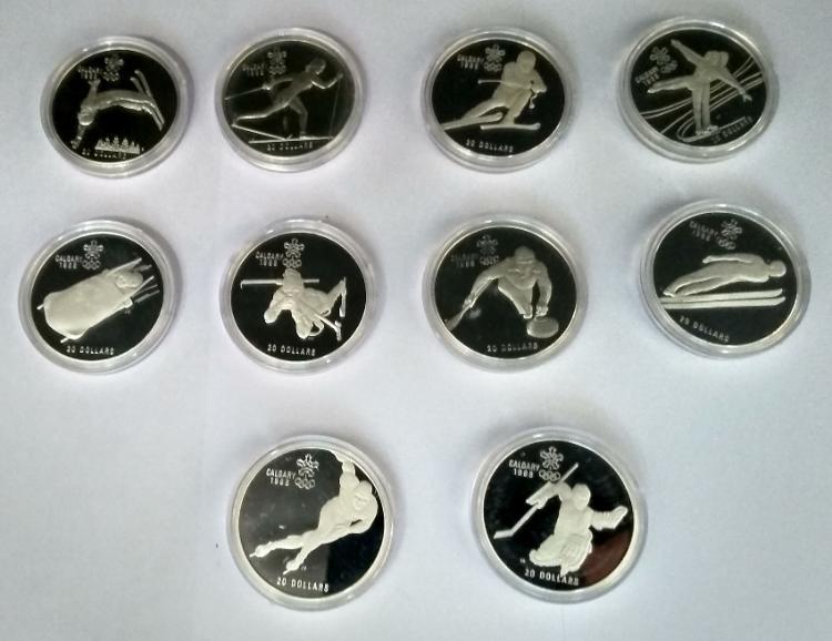 20 Dollars 1988 Pp Kanada Olympia Calgary Silber Langen Bei