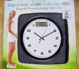 Digitale Personenwaage (bis 180 kg) mit Uhr, Bedienanleitung, top Zustand in der OVP! - Diepholz