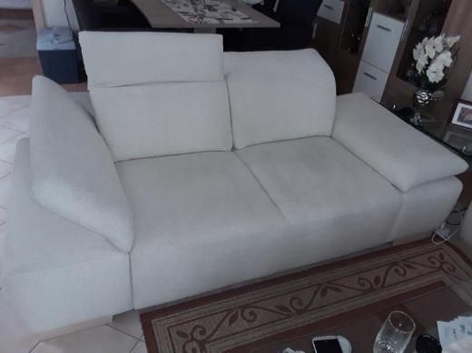 2 - Sitzer Couch, cremefarben, 2 Stück - Schwanewede