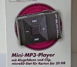 Mini-MP3-Player, Alu-Gehäuse, Ansteck-Clip, Ladekabel, Anleitung, unbenutzt in der OVP! - Diepholz