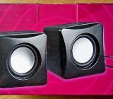 USB-Stereo-Aktivboxen, kompaktes Würfeldesign, 2x4 Watt, unbenutzt in OVP! - Diepholz