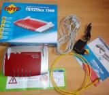 AVM Fritz Box VDSL / ADSL 7360 mit Zubehör in OVP wie NEU ! - Edewecht