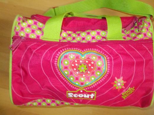 """11 Teil.Scout Schulranzen Set """" Pink Heart """"teilweise NEU mit Etikett + Zugabe - Edewecht"""