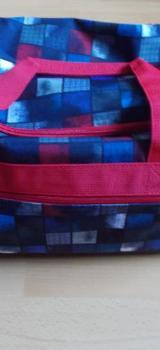 3 Teiliges 4 You Jump Schulrucksack Set Squares Blue , Red Neu noch mit Etiketten! - Edewecht