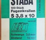 """STABA Profilbrettkrallen S 3,8 x 10 mm Fugenkrallen 100 Stück"""" NEU """" - Verden (Aller)"""