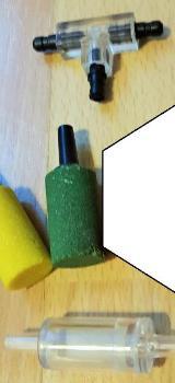 Aquarium Rückschlagventil Luftfilter / Sprudelsteine Luftstein / T-Stück - Verden (Aller)