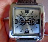 """Sportliche """"DANIEL HECHTER""""-Armbanduhr, Datum, Lederarmband, ungetragen, neu! - Diepholz"""
