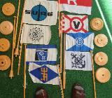 Redereiflaggen mit Ständer - Bremen