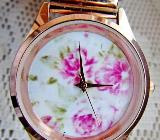 "Wunderschöne Damen-Armbanduhr ""Rose'goldfarbig"", mit Flexo-Gliederarmband, Batterie neu - Top! - Diepholz"