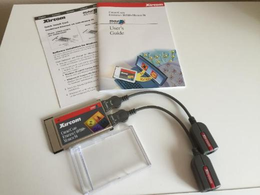 Xircom CreditCard Ethernet 10/100 + Modem 56 PCMCIA TypII für Notebook - Bremen