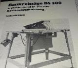 Baukreissäge BS 500 - Ottersberg