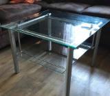 Glastisch mit Silber Gestell - Weyhe