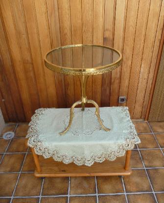 Kleiner Glastisch 45 cm