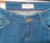 Cross 5-pocket Jeans Damen hellblau Gr. 34 - Bremen