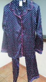 Satin-Schlafanzug Gr. 158/164 Mädchen