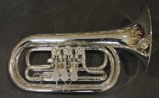 Melton 129 S Basstrompete in Bb, echt versilbert. NEUWARE