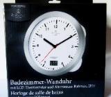 Badezimmer-Marken-Wanduhr mit LCD-Thermometer, mit Anleitung, noch unbenutzt in der OVP - Diepholz