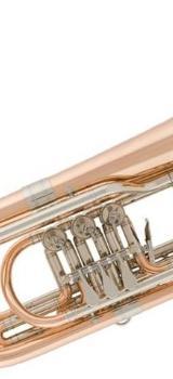 V. F. Cerveny Kompakte Goldmessing Bass - Trompete in Bb. Ausstellungsware mit Koffer - Bremen Mitte