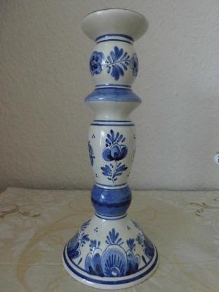 Delfter Blau Kerzenständer und Schale - Bremen