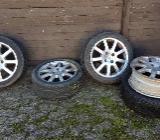Peugeot 206 (CC) 4 Alufelgen, 1 x Winterreifen, 3 x Sommerreifen - Langwedel (Weser)