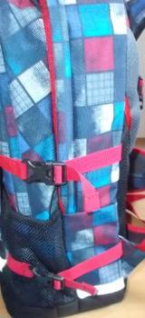 4 You Jump Schulrucksack Set 5 Teilig Squares Blue , Red Neu ! - Edewecht