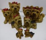 Yorkshire Terrier Figuren 6er Set - Nordholz