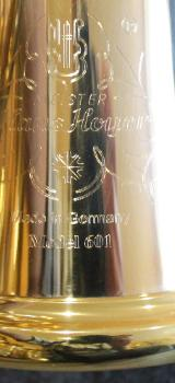 Meister Hans Hoyer 601 GA-L Goldmessing Doppelhorn mit Schraubbecher. NEUWARE - Bremen Mitte