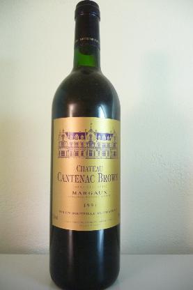 1994er Cháteau Cantenac Brown Margaux, Grand Cru Classé, 0,75 Liter - Hambergen