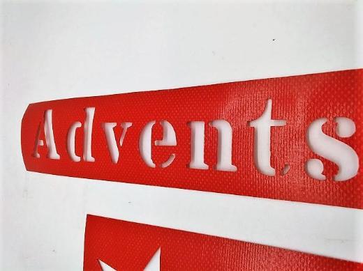 Schablone Adventskiste/ Adventskalender zum selbst gestalten - Stuhr