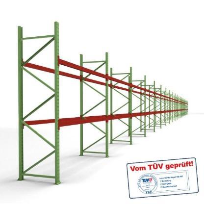 Palettenregal Komplettsystem 180 bis 1008 Palettenplätze,  Höhe 3,0 m, Neu/B-Ware zum Gebrauchtpreis - Wilhelmshaven