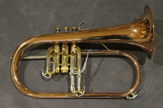 Köhler Heavy Goldmessing Flügelhorn mit Koffer