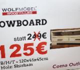 NEU: Lowboard von Wolfmöbel, Echtholz,Shisham - Delmenhorst