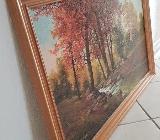 """Wandbild von N.Gero mit Druck """"Bach und Bäumen"""" in einen Holzrahmen - Weyhe"""