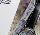 Deutsche Marken-FUNK-Armbanduhr, Lederarmband, mit Anleitung, ungetragen in OVP - Diepholz
