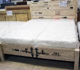 NEU: Echtholz Sheesham Bett von WOLF Möbel 180 x200 cm im Container Look - Delmenhorst