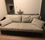 Schlafsofa neuwertig - mit Bettkasten - grau-schwarz - Bremen