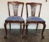 Esstisch + 2 Stühle Gründerzeit - Achim