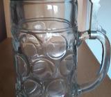 Glaskrug mit Zinndeckel - Stuhr