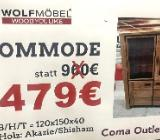 Neu: Kommode von Wolfmöbel, Echtholz - Akazie/Shisham - Delmenhorst