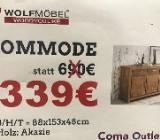 Neu: Kommode von Wolfmöbel, Echtholz - Akazie - Delmenhorst