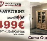 Neu: Glasvitrine von Wolfmöbel, Echtholz - Akazie - Delmenhorst