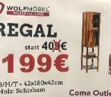 Neu: Regal von Wolfmöbel, Echtholz - Shisham - Delmenhorst