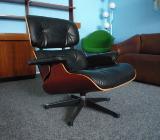 Charles Eames Lounge Leder Kirsche Original VITRA NEUWERTIG von 2006 - Berne