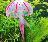 Neon leuchtende Silikon Qualle Gr.S Pink Deko Aquarium Nano Cube - Verden (Aller)