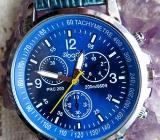 Angesagte Edelstahl-Armbanduhr mit Leder-Armband, nahezu neuwertiger Zustand! - Diepholz