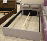 NEU: Stoff Bett in grau: 120 x 200 cm - Delmenhorst