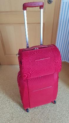 Koffer, Samsonite Hartschale mit Beautycase